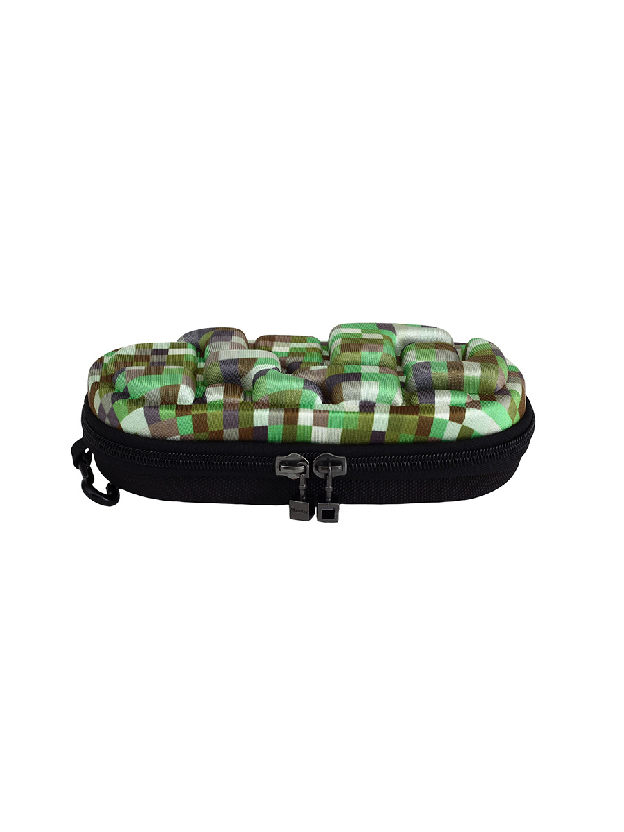 "Пенал ""LedLox Pencil Case"" Minecraft Premium, цвет зеленый мульти - Размер Large 23х10х5см - 3 года гарантия #1"