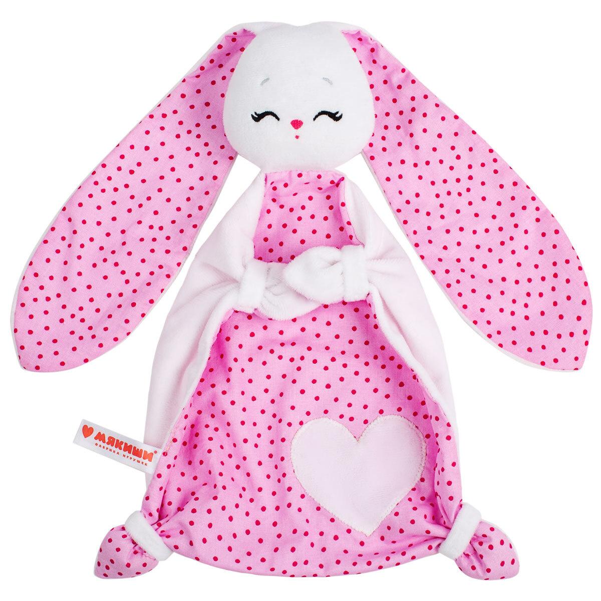 Игрушка комфортер для самых маленьких, Зайка Банни, Мякиши  #1