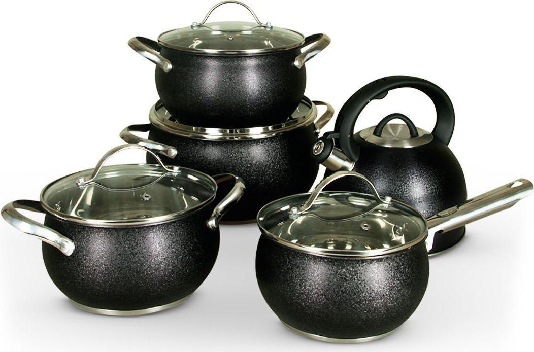 Набор кастрюль, Комплект посуды для приготовления Pomi d'Oro, 9 предм.  #1