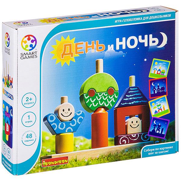 Настольная развивающая игра Bondibon «День и ночь», для детей  #1