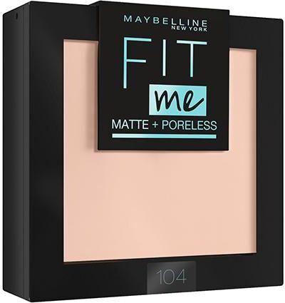 """Maybelline New York Пудра для лица """"Fit Me"""", матирующая, скрывающая поры, оттенок 104, Светло-бежевый #1"""