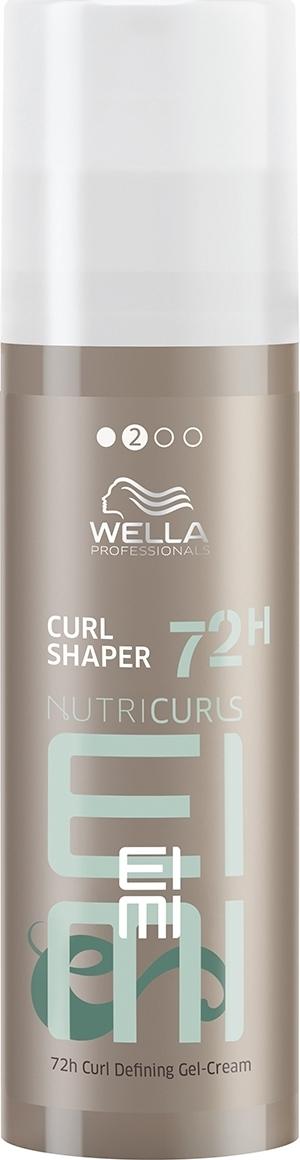 Крем для укладки кудрявых волос Wella Professionals Nutricurls EIMI Curl Shaper 72H Curl Defining Gel-Cream, 150 мл dikson моделирующий крем для кудрявых волос степень фиксации 2 modeling cream 14 150 мл