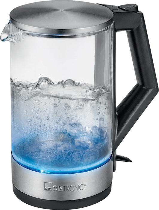 Электрический чайник Clatronic WKS 3641 G, серебристый