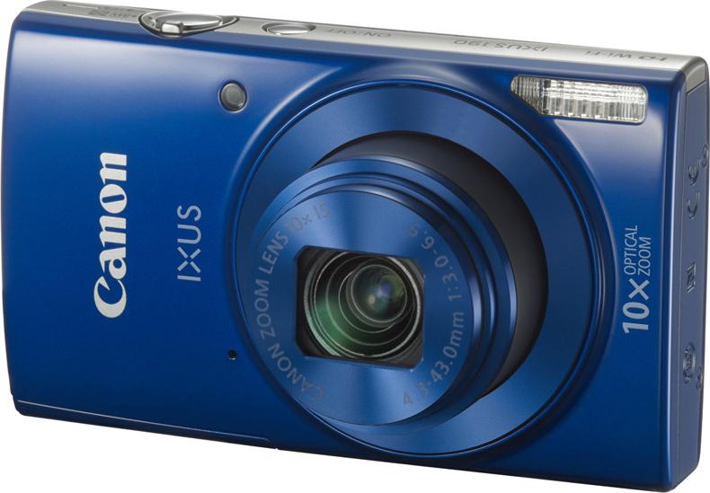 Компактная фотокамера Canon DigitalIXUS190, синий