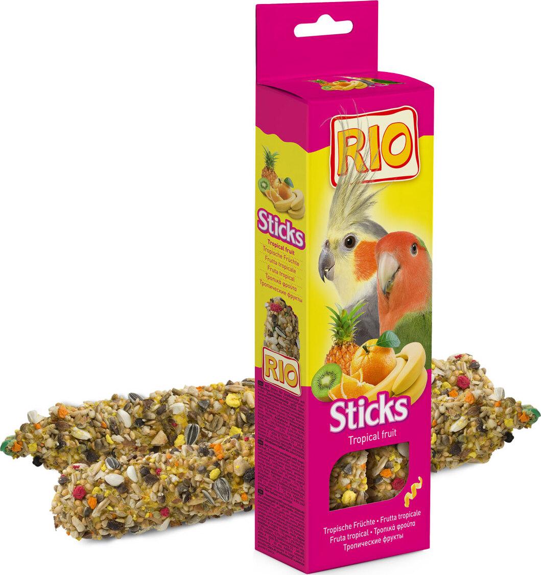 РИО Палочки д/средних попугайчиков с тропическими фруктами добавки fortrise
