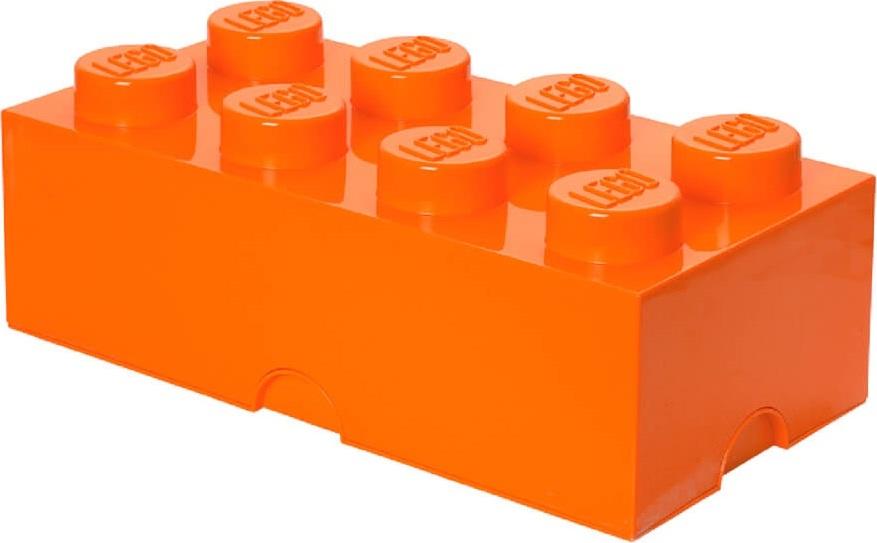 Ящик для хранения 8 LEGO оранжевый