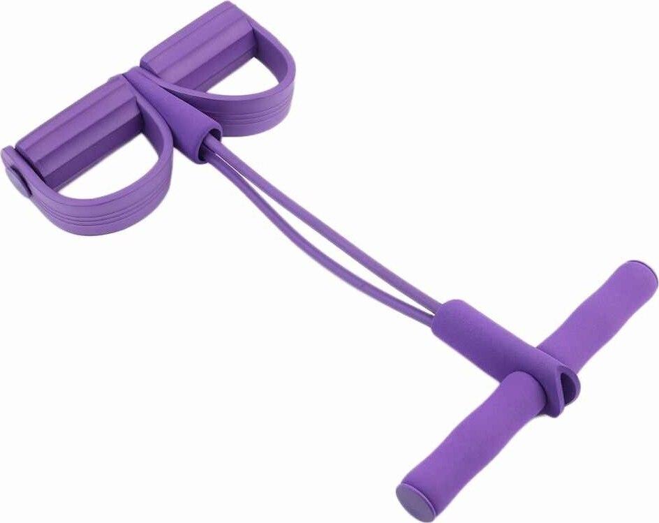 Эспандер педальный для пресса и спины TopYoga фиолетовый