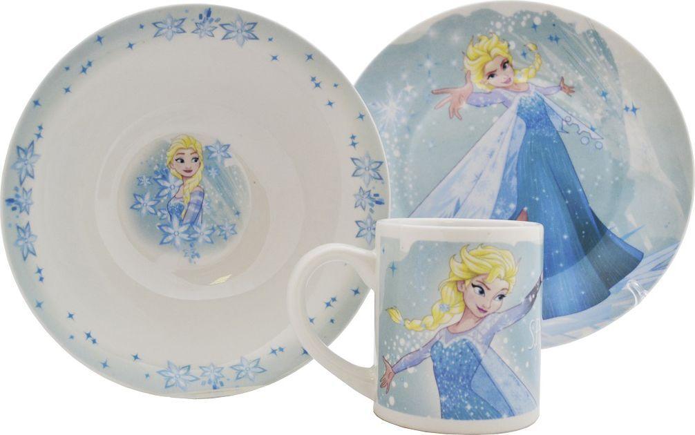 Disney Набор детской посуды Холодное сердце Эльза 3 предмета кукла эльза и пабби тролли холодное сердце disney