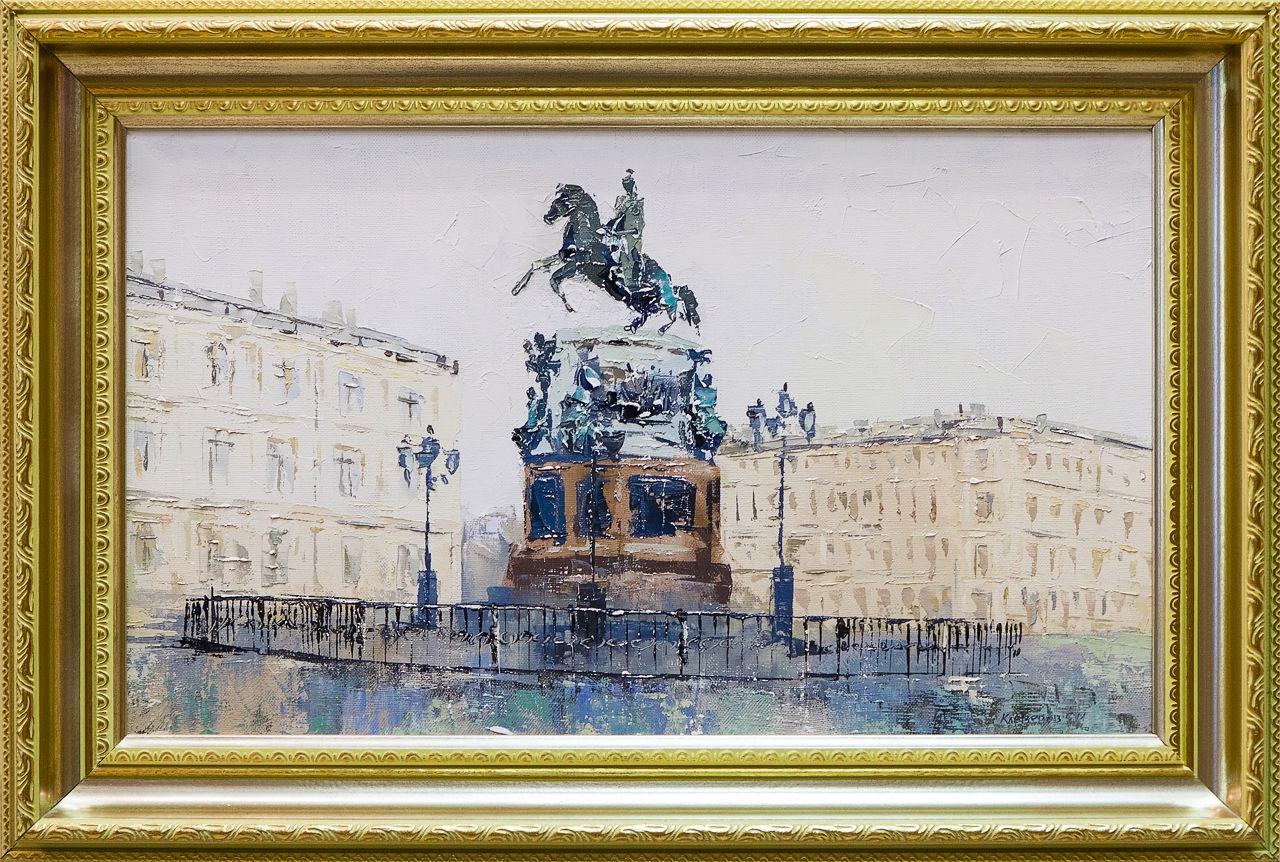 Картина маслом Исаакиевская площадь Клеверов картина маслом петропавловка клеверов