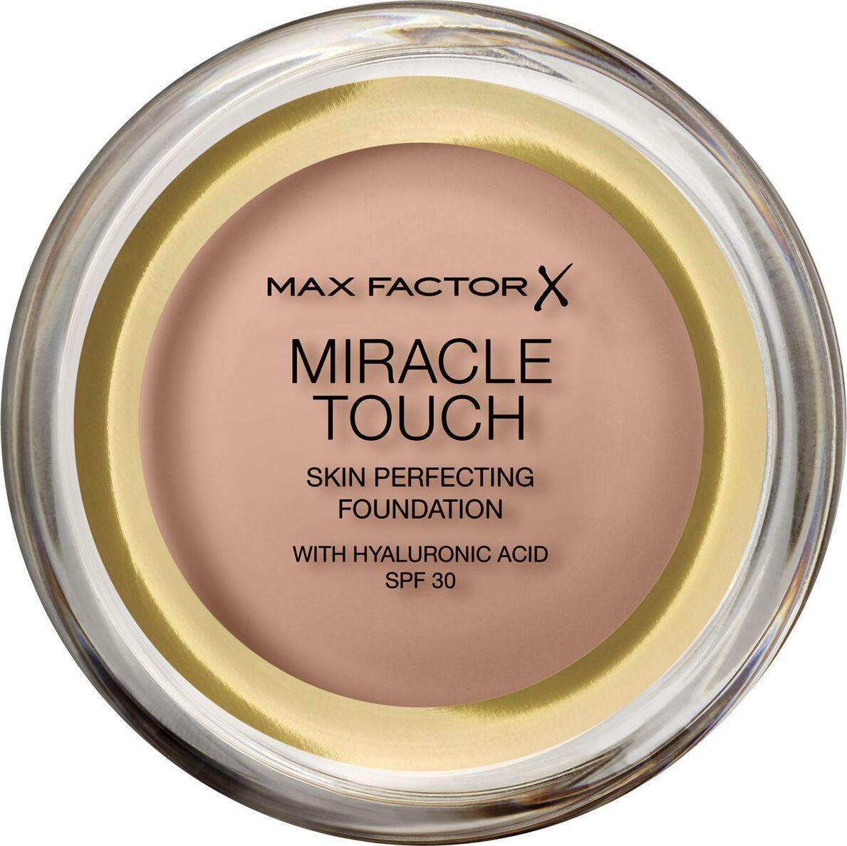 Тональная основа Max Factor Miracle Touch, SPF 30, тон 70 Natural, 11 мл основа под макияж max factor miracle prep colour correcting cooling тон green 30 мл