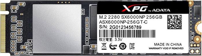 Твердотельный накопитель 256Gb SSD ADATA XPG SX6000, ASX6000NP-256GT-C ssd диск adata xpg sx6000 128gb asx6000np 128gt c