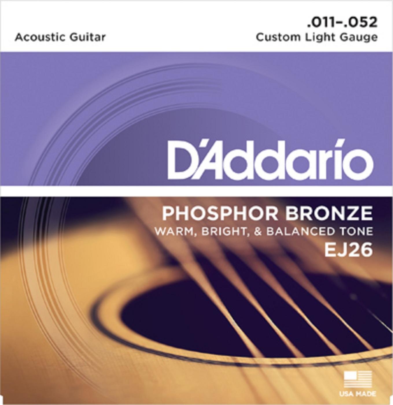 Комплект струн для акустической гитары D'Addario EJ26
