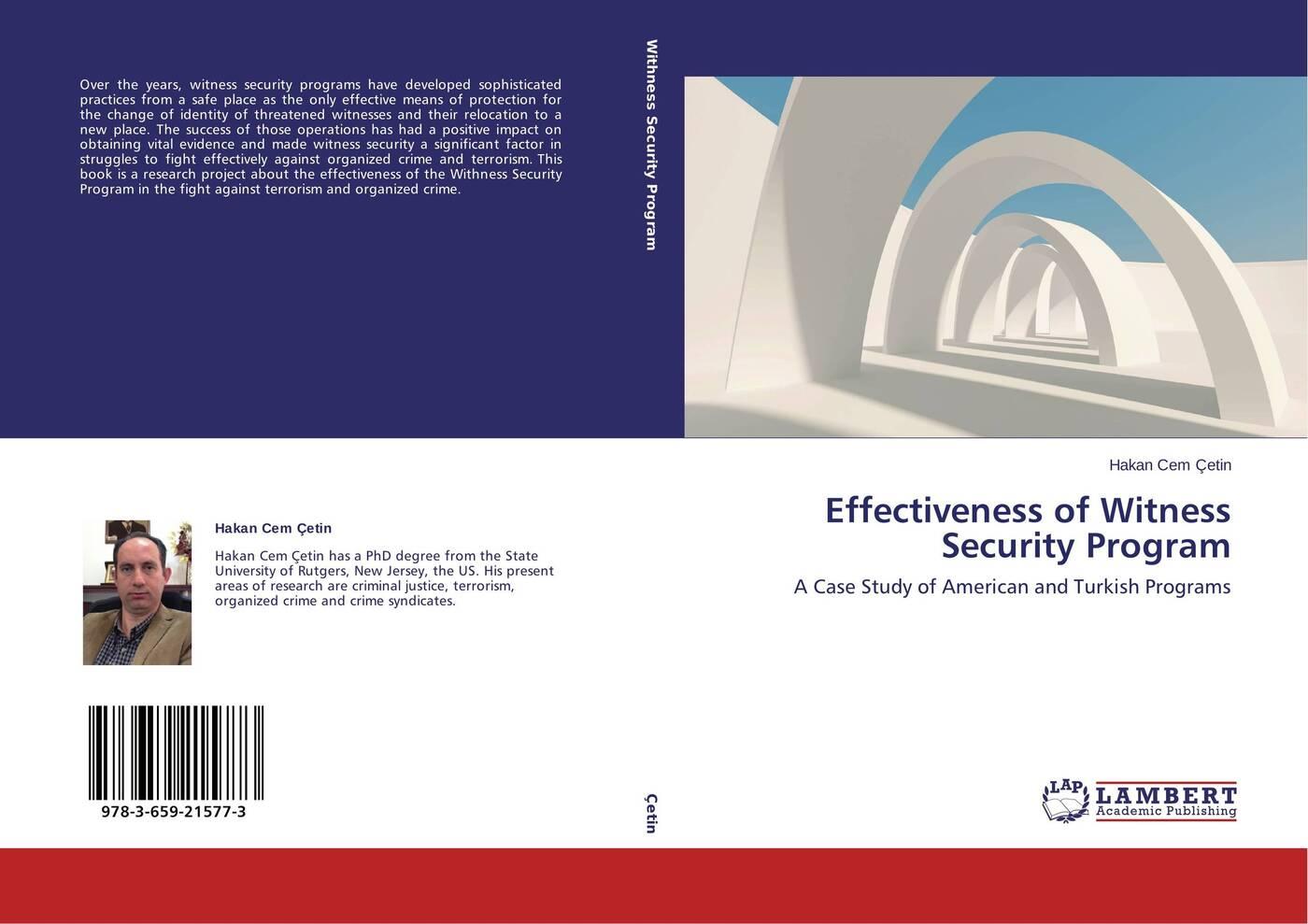 Hakan Cem Çetin Effectiveness of Witness Security Program effectiveness of witness security program