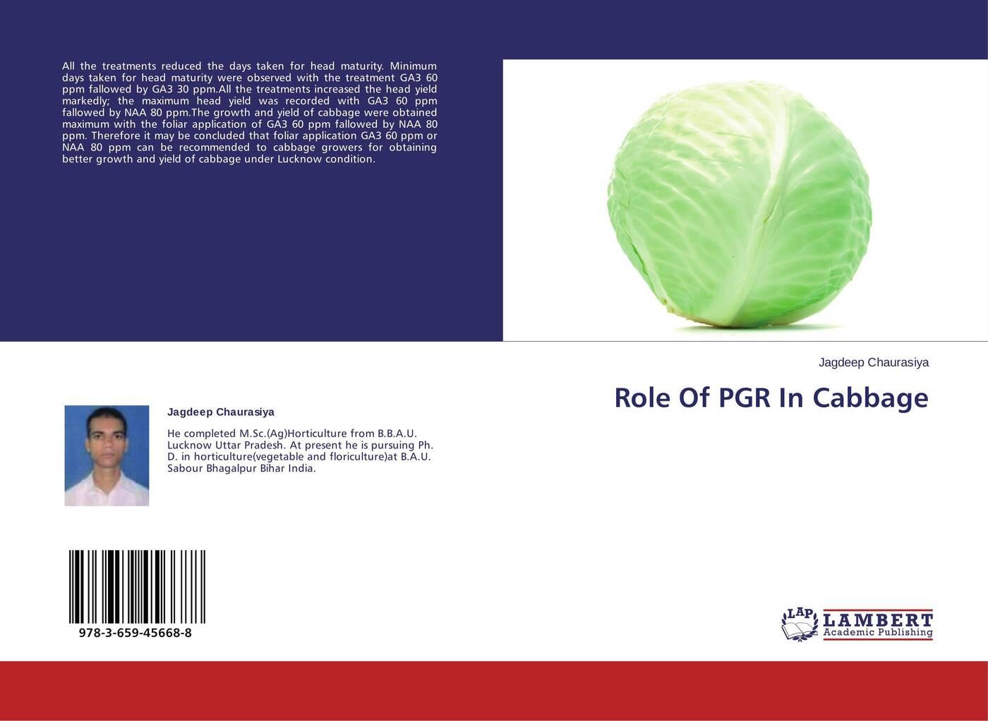 Jagdeep Chaurasiya Role Of PGR In Cabbage ppm для растений