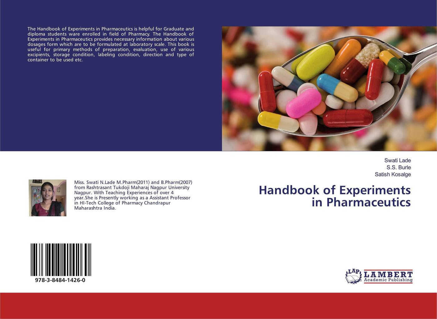 Swati Lade,S.S. Burle and Satish Kosalge Handbook of Experiments in Pharmaceutics beamex pc106 used in good condition