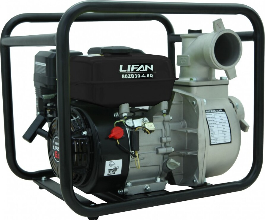 Мотопомпа бензиновая LIFAN 80ZB30-4.8Q виброплита vektor vpg 50b lifan л с 2 6 kh 12 40 см сек
