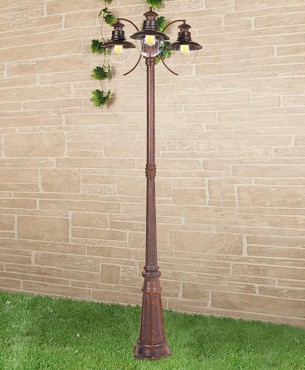 Садовое освещение Elektrostandard a038486, E27 фонарный столб talli f 3 gl 3002f 3 брауни
