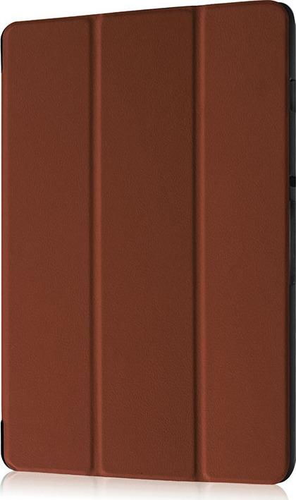 Чехол-обложка MyPads для Acer Iconia One 10 B3-A30 тонкий умный кожаный на пластиковой основе с трансформацией в подставку коричневый