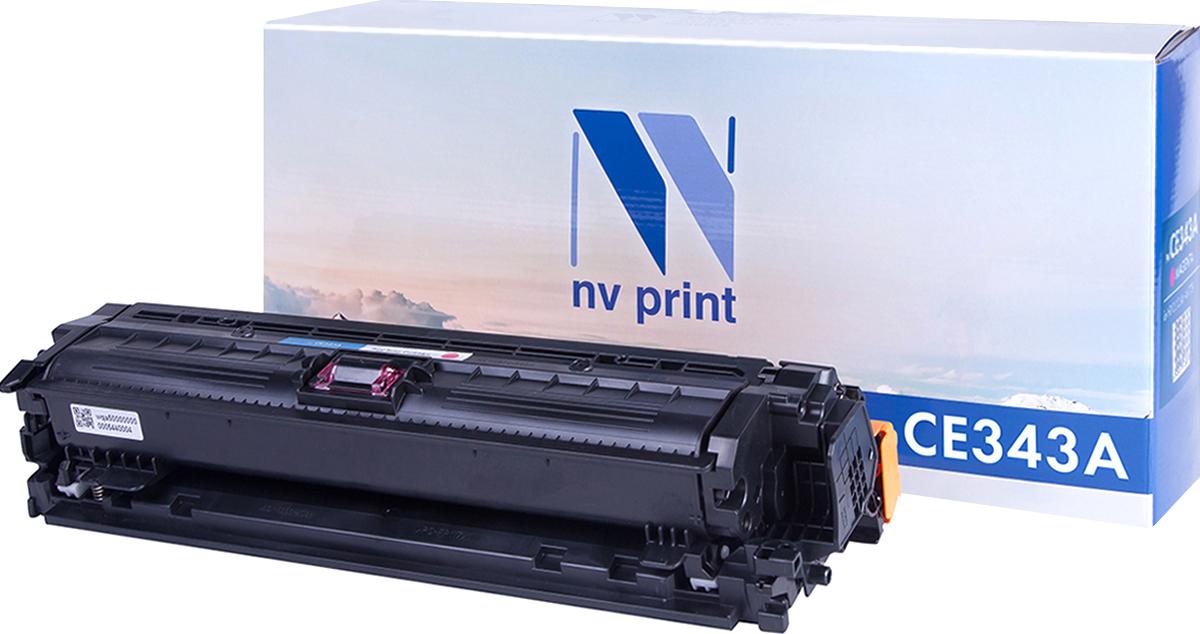 Тонер-картридж NV Print CE343A, пурпурный, для лазерного принтера