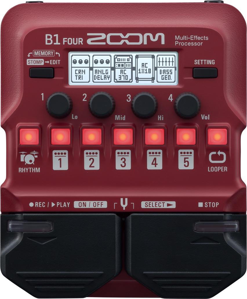 Мульти педаль эффектов для бас-гитары Zoom B1 Four