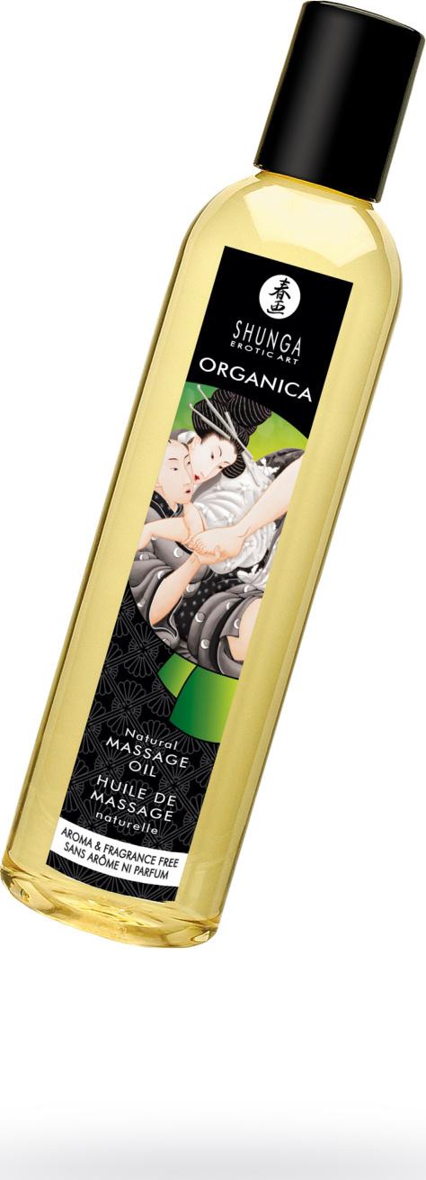 Возбуждающее съедобное массажное масло Shunga Organica Fragrance Free для волнующего эротического массажа интимных зон, 250 мл. цена 2017