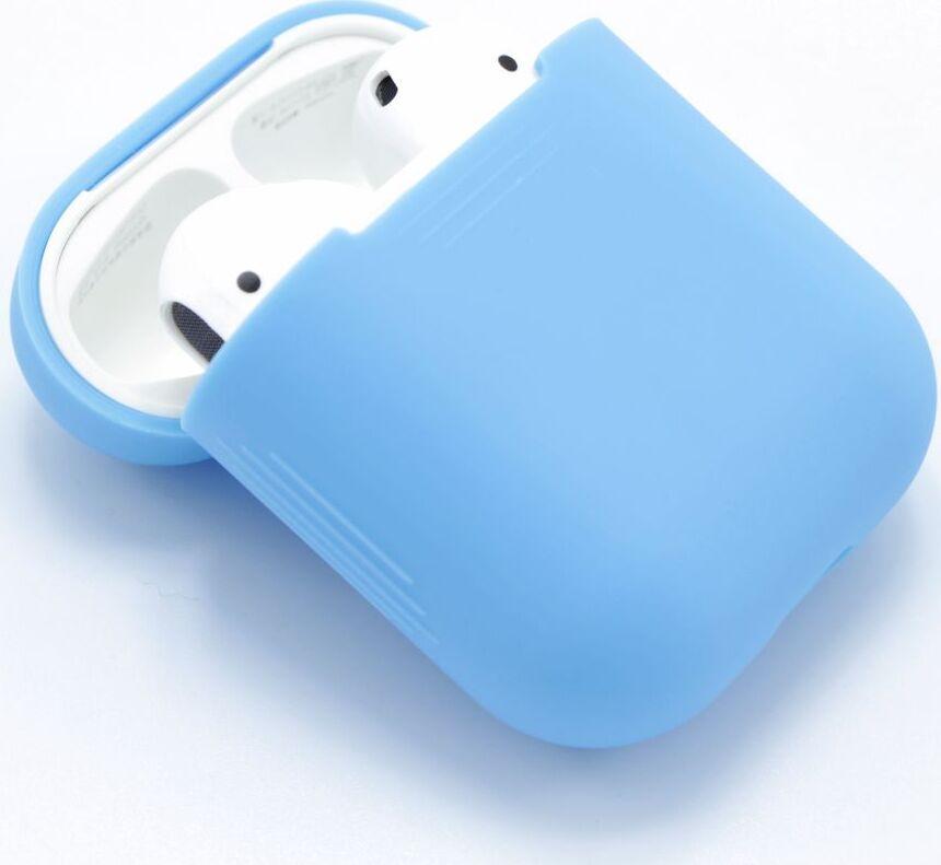 Чехол для Apple AirPods ультратонкий силикон, бархатный небесная глазурь