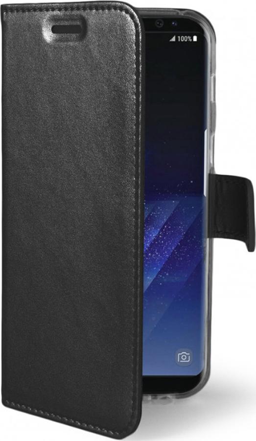 Чехол-книжка Celly Air Case для Samsung Galaxy S8, с хлястиком, черный