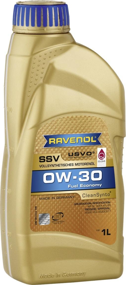 Моторное масло RAVENOL SSV Fuel Economy SAE 0W-30 ( 1 л)
