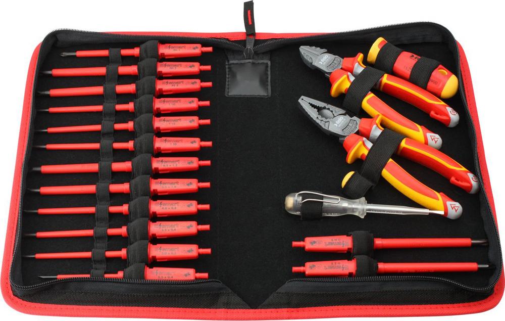 Набор стержней Felo, диэлектрических + рукоятки E-SMART, FEL-06391904, желтый, черный, красный