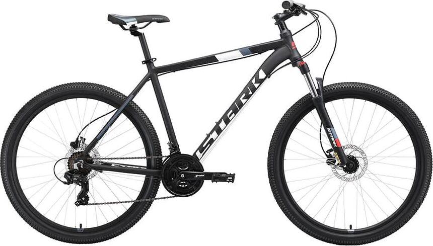 Велосипед Stark'19 Hunter 27.2 HD чёрный/белый/серый/красный, 18' (H000014053)
