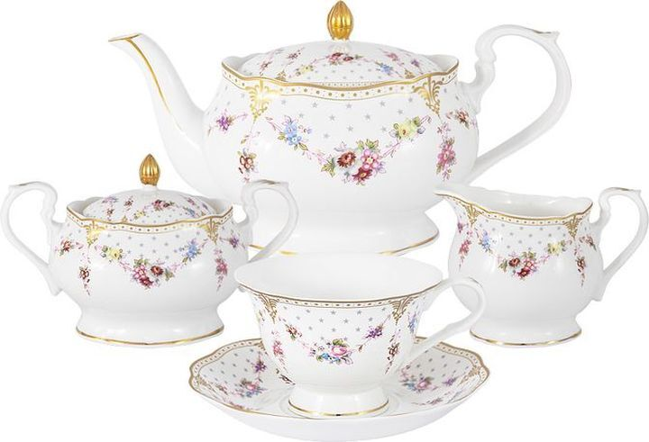 Сервиз чайный Colombo Ла-Рошель, C2-TS/15-K8101, на 6 персон, 15 предметов