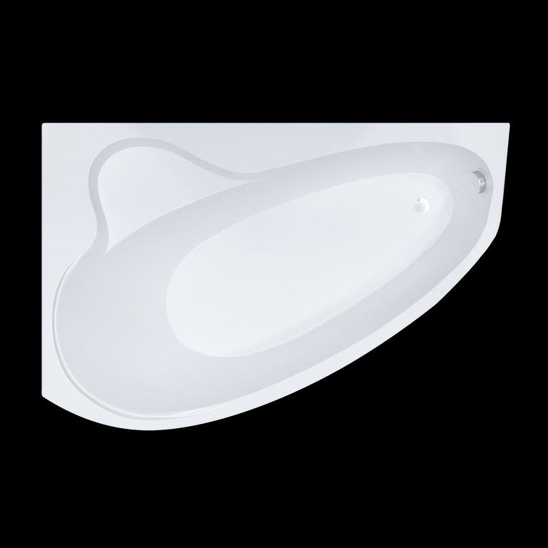 Акриловая ванна Triton Пеарл-шелл 160x104 асимметричная правая