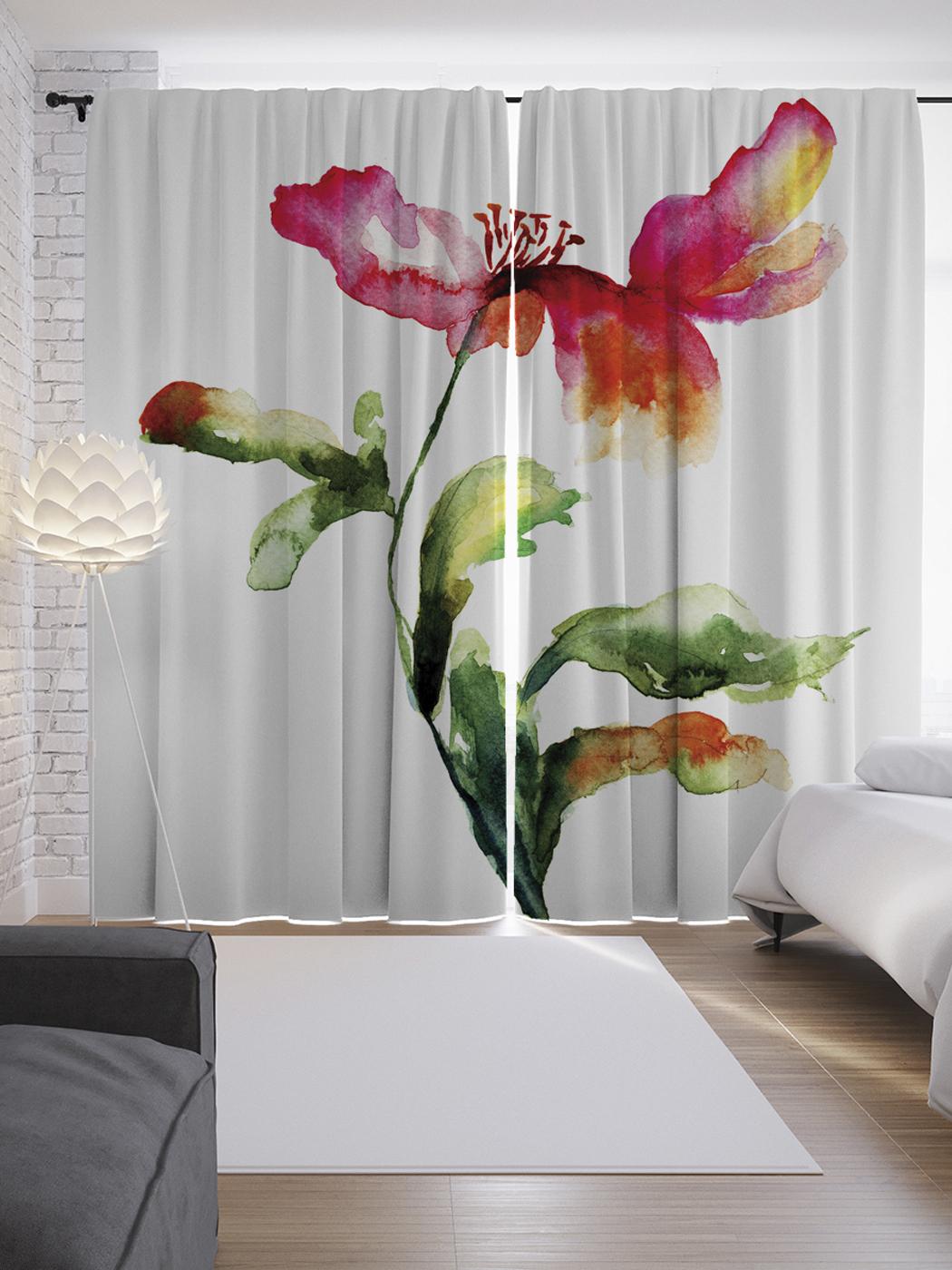 фотопечать цветы на шторах каталог сделать конструкцию