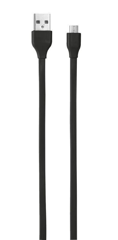 Кабель 20135 Trust MICRO-USB 1м плоский чёрный