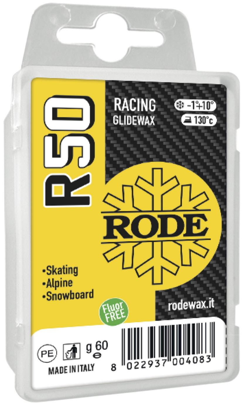 Парафин Rode R50 Racing Glider Yellow, +10?…-1?C, R50-60, желтый, 60 г