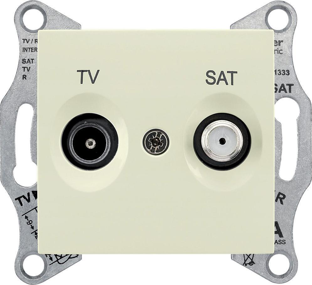 Механизм телевизионной розетки Schneider Electric Sedna TV 5-862мГц + SAT 950-2400мГц оконечный бежевый