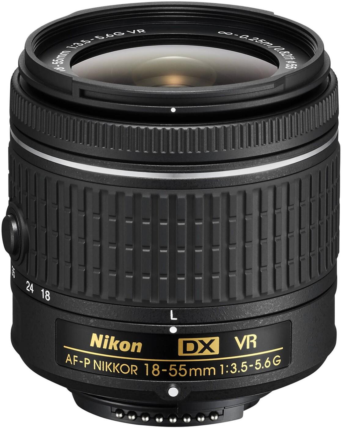 Объектив Nikon AF-P DX Nikkor 18-55mm f/3.5-5.6G VR, черный