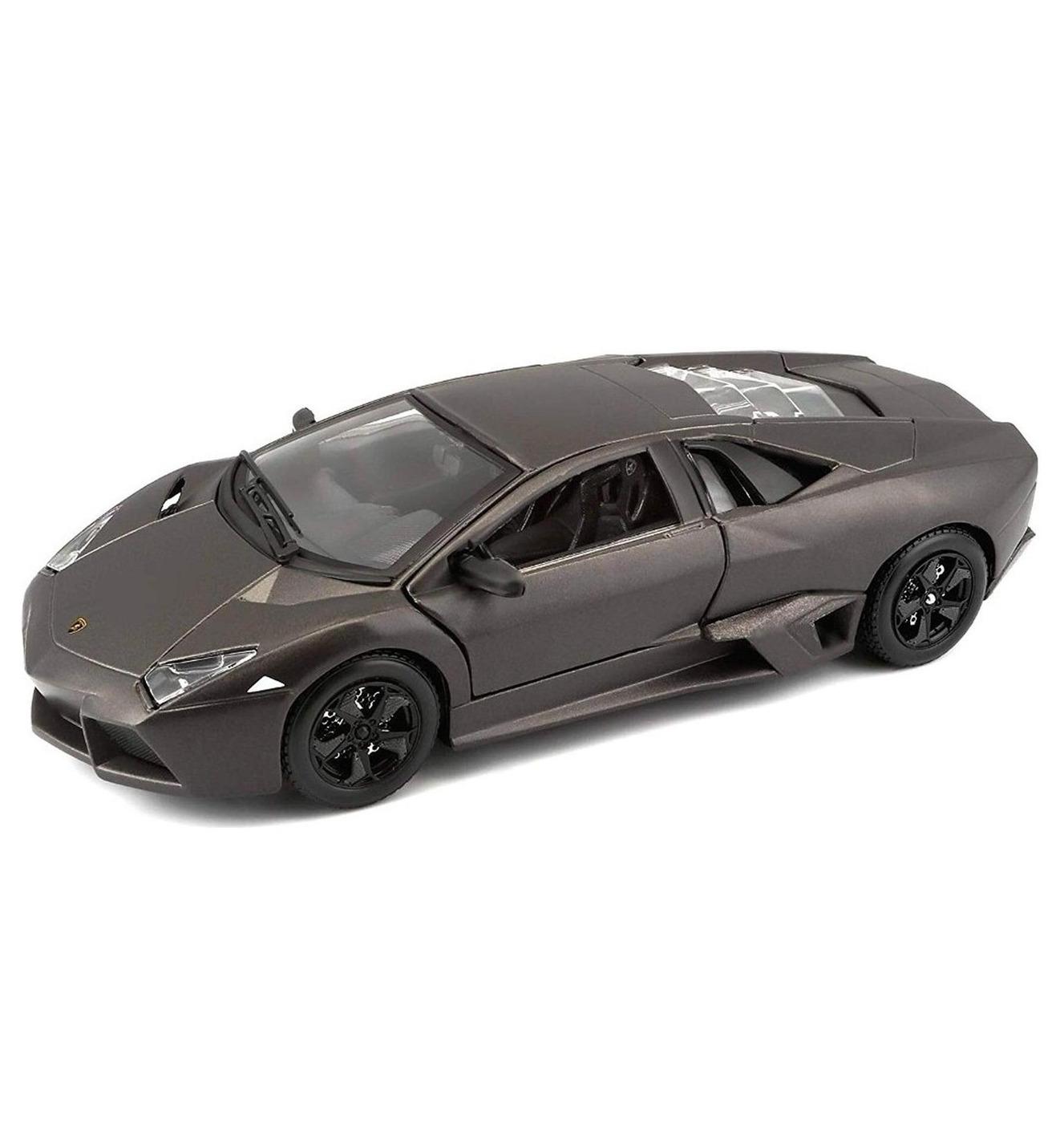 Bburago Машинка металлическая 1:24 Lamborghini Reventon, серый металлик, 18-21041