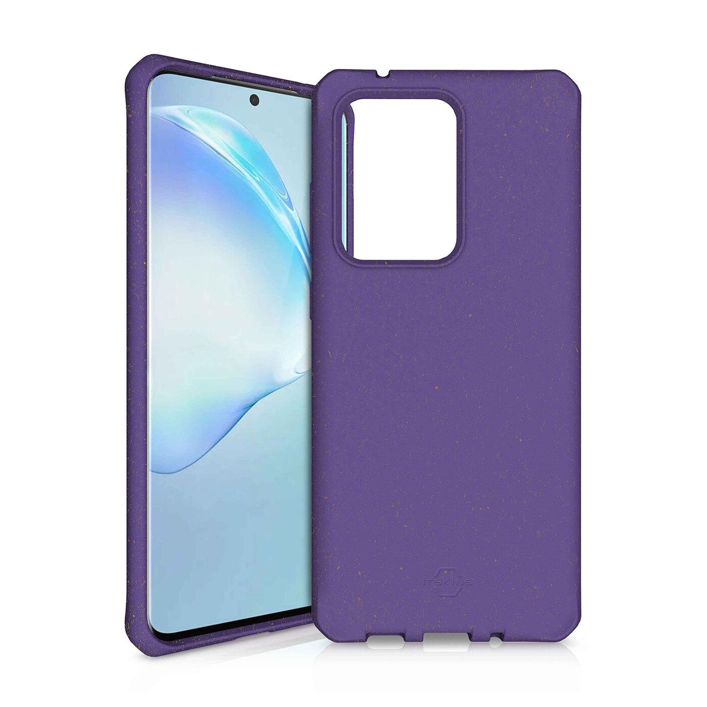 Чехол-накладка ITSKINS FERONIA BIO для Samsung Galaxy S20 Ultra, фиолетовый