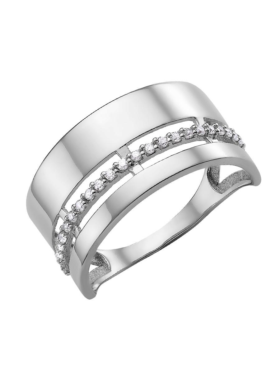 Сорокин Кольцо серебро 925 родированное с фианитами