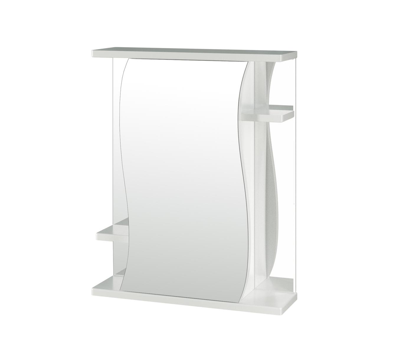 "Зеркало-шкаф MIXLINE, 55х19х69 см, ""Классик-55"" левый без подсветки (ПВХ)"