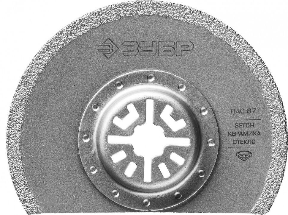 Насадка пильная с алмазным напылением ЗУБР D 87 мм, ПАС-87. 15564-87