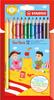 Карандаши цветные STABILO Trio, трехгранные, утолщенные, 12 цветов - изображение