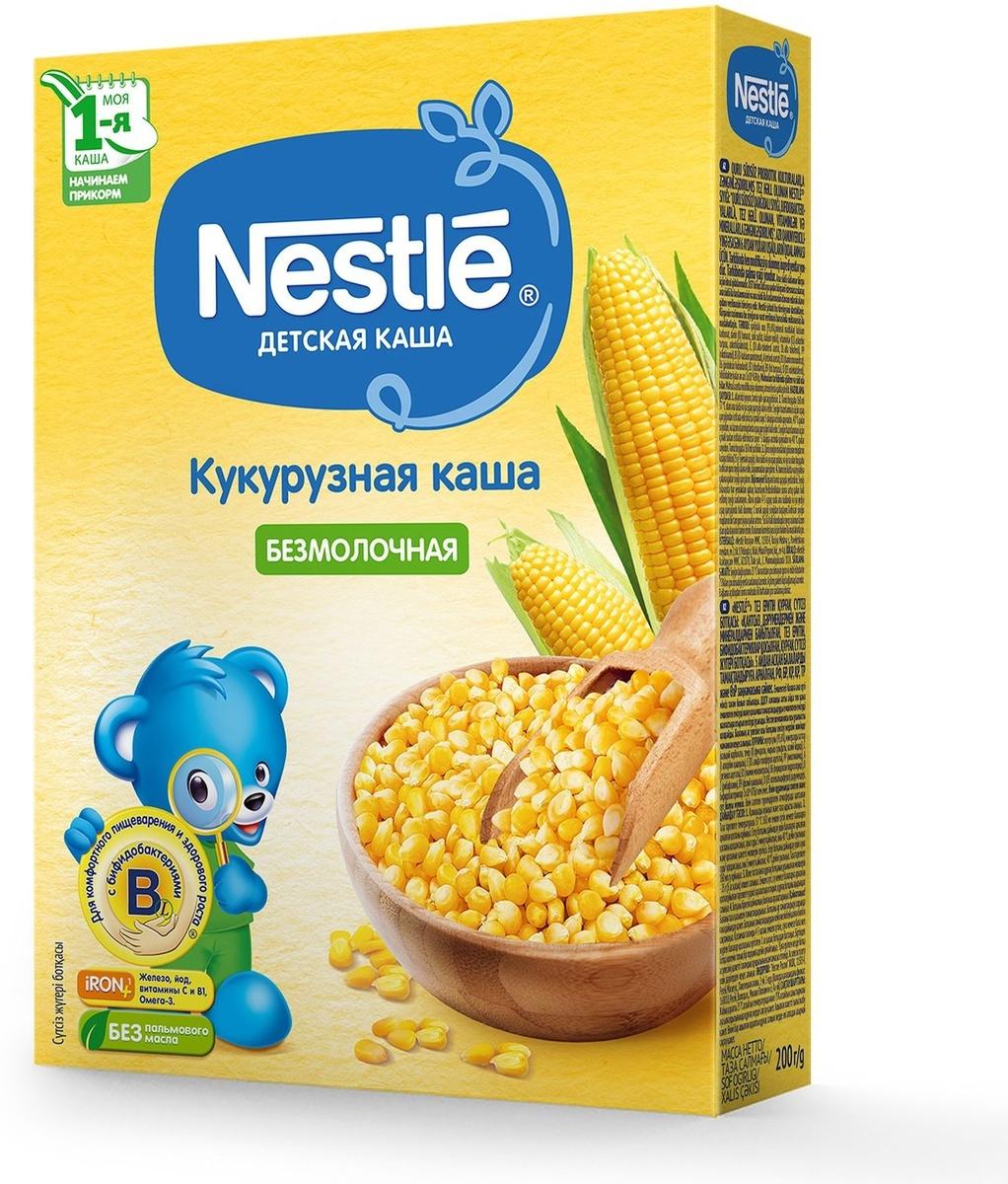 Каша кукурузная Nestle, безмолочная, для начала прикорма, с бифидобактериями BL, 200 г  #1