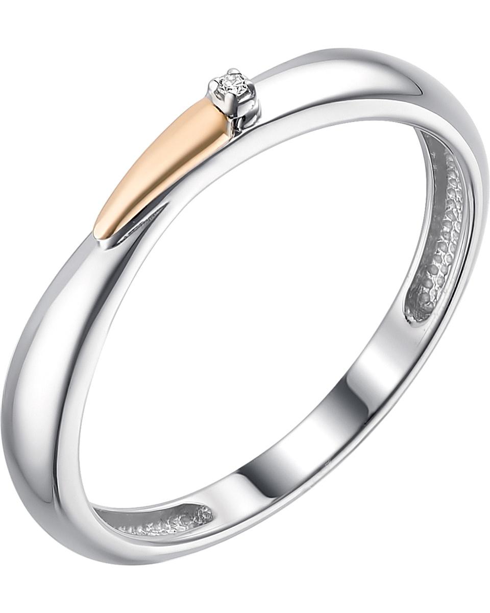 Кольцо Алькор из серебра с золотом и бриллиантами 01-1793/000Б-00_18  #1