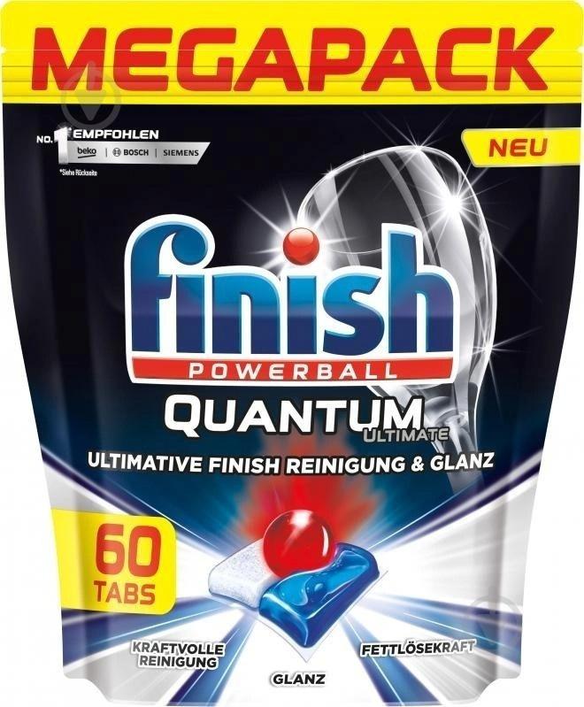 Таблетки для посудомоечных машин Finish Quantum Ultimate 60 шт #1