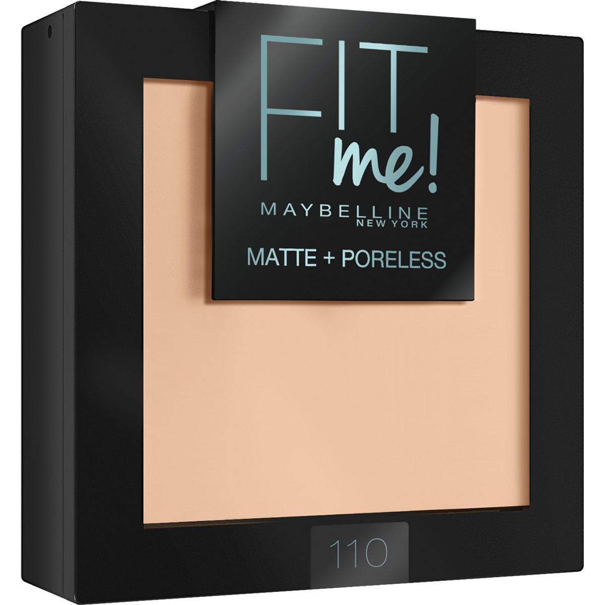 """Maybelline New York Пудра для лица """"Fit Me"""", матирующая, скрывающая поры, №110  #1"""