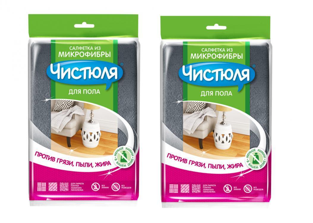 Салфетки для уборки Чистюля Универсальная, 1 шт, 2 уп. #1
