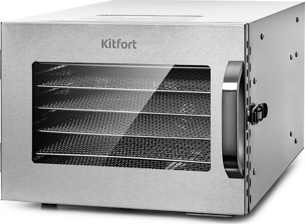 Дегидратор Kitfort КТ-1917, серый металлик #1