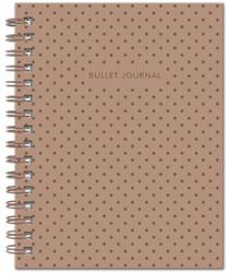 Bullet Journal (Коричневый) 162x210мм, твердая обложка, пружина, блокнот в точку, 120 стр. | Нет автора. Блокноты и ежедневники от издательств